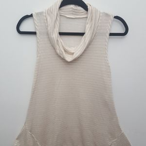 LORD & TAYLOR Cowl Neck Sleeveless Tunic Top
